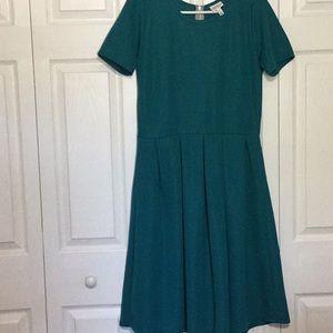 LulaRoe size Large Teal Dress